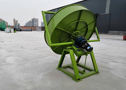 Pan organic fertilizer granulator