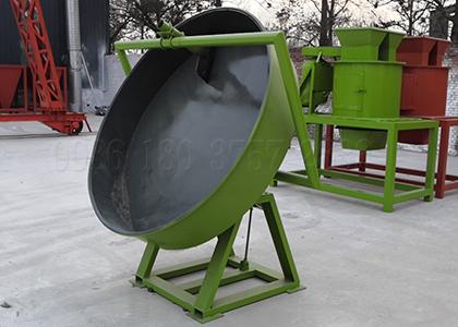 Pan powder materials processing machine