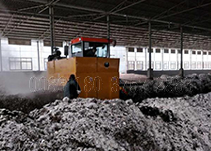 chicken manure windrow composting turner machine