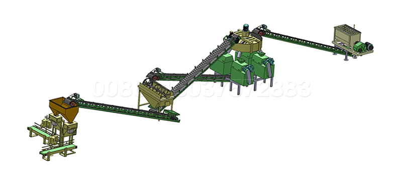 double roller type dry NPK fertilizer granulation line