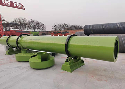 rotating drum fertilizer dryer machine