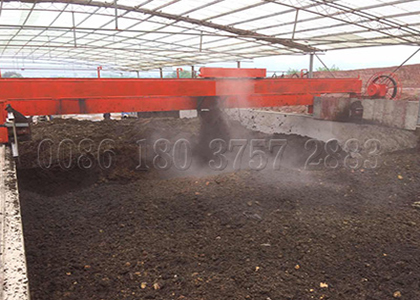 Wheel type bio compost turner